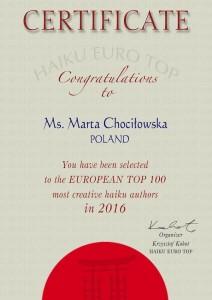 Marta Chociłowska EuroTop 2016