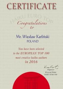 Wiesław Karliński EuroTop 2016