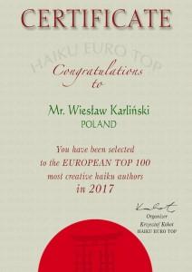 Wiesław Karliński 2017